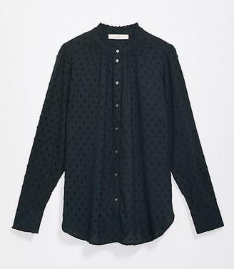 LOFT Clip Ruffle Collar Shirt
