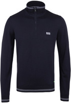 Boss Green Zime Navy Quarter Zip Sweater