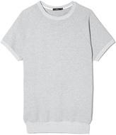 Bassike Oversized Raglan Sweatshirt in Grey Marl, X-Small/Small