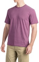 Specially made Striped Knit T-Shirt - Short Sleeve (For Men)