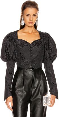 Marianna SENCHINA Shortened Bustier Jacket in Black   FWRD