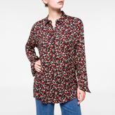 Paul Smith Women's Black 'Wild Floral' Print Shirt