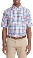 Paul & Shark Men's Regular Fit Plaid Short Sleeve Sport Shirt