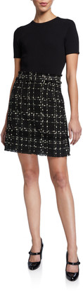 Ted Baker Metallic Boucle Combo Dress