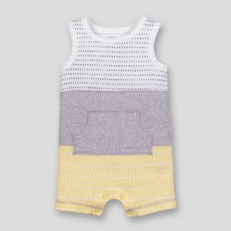 Lamaze Baby Boy' Organic Cotton Colorblocked tripe Romper - 9M