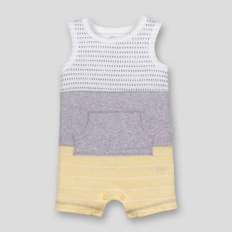 Lamaze Baby Boys' Organic Cotton Colorblocked Stripe Romper -