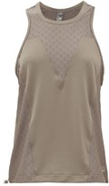 adidas by Stella McCartney Mesh-panelled Training Tank Top - Womens - Brown