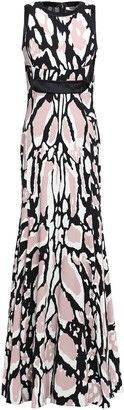 Roberto Cavalli Cutout Leopard-print Jersey Gown