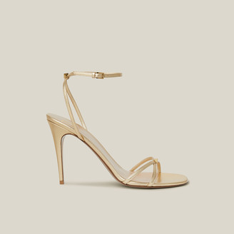 Valentino Gold Strappy High Heel Leather Sandals Size IT 39.5