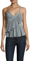Free People Melbourne Ruffle Solid Camisole