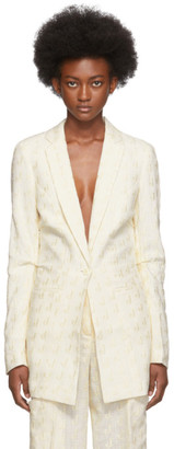 Jacquemus Off-White Embroidered La Veste Bergamo Blazer