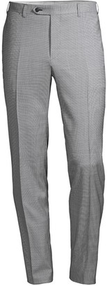 Canali Modern-Fit Check Stretch-Wool Trousers