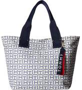 Tommy Hilfiger Classic Tommy TH Logo Canvas Tote Tote Handbags