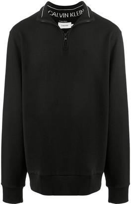 Calvin Klein High-Neck Cotton Sweatshirt