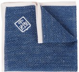 Corneliani Denim-effect Fine Knit Pocket Square