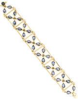 Temple St. Clair 18K Sapphire Flower Link Bracelet