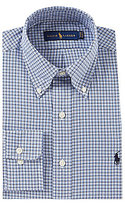 Polo Ralph Lauren Fitted Classic-Fit Button-Down Collar Plaid Oxford Dress Shirt