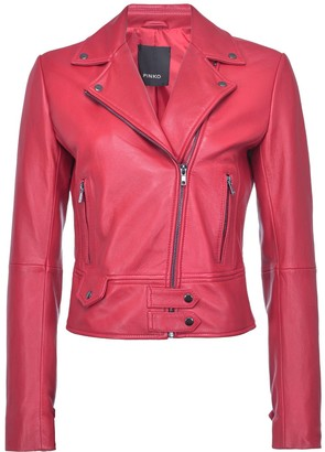 Pinko Long-Sleeved Biker Jacket