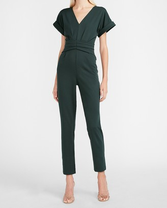 Express Seamed Waist V-Neck Jumpsuit
