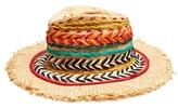 Etro Woven silk and raffia panama hat
