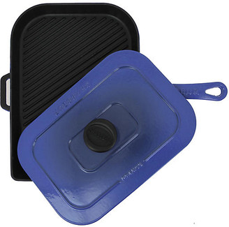"15"" Chasseur Cast Iron Panini Press - French Blue"