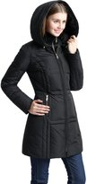 "BGSD Women's ""Whitney"" Water Resistant Down Puffer Coat - L"