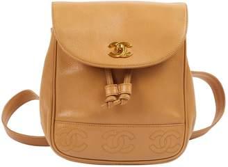 Chanel Camel Leather Backpacks