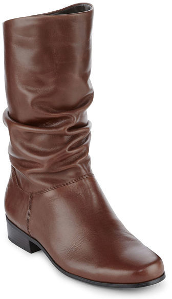 JCPenney St. John's Bay St. Johns Bay Jamie Slouch Leather Womens Boots