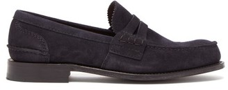 Church's Pembrey Suede Penny Loafers - Mens - Navy