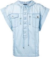 Balmain denim draw-string T-shirt