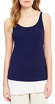 Eileen Fisher Scoop Neck Long Slim Cami