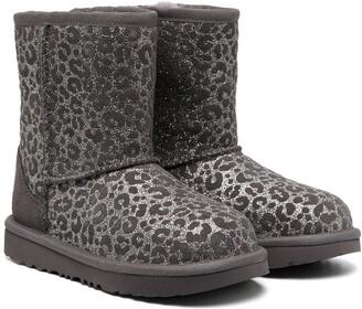 Ugg Kids Glitter Leopard Snow Boots