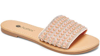 Blush B-Lush Chatties Women's Sandals BLUSH - Blush Rhinestone Slide - Women