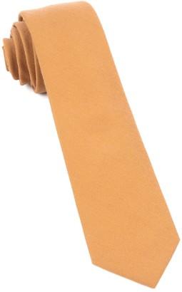 Tie Bar Solid Wool Mustard Tie