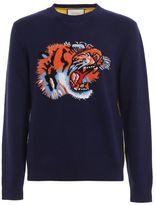Gucci Tiger Intarsia Wool Sweater