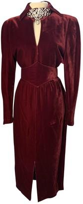 Thierry Mugler Burgundy Velvet Dresses