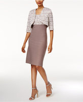 R & M Richards Sheath Dress and Sequined Lace Jacket