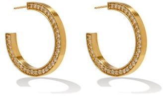 COMPLETEDWORKS Topaz & 14kt Gold-vermeil Hoop Earrings - Crystal