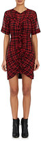 Etoile Isabel Marant Women's Wallace Plaid Ruched Minidress