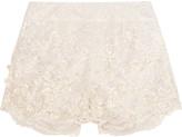 Jenny Packham Embellished lace shorts
