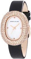 Kenneth Jay Lane Women's KJLANE-2406S-01 2400 Series White Mother-Of-Pearl Dial Black Satin Watch