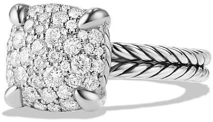 David Yurman Ch'telaine Ring with Diamonds in Sterling Silver