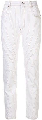 Thierry Mugler Contrast-Stitching Mid-Rise Jeans