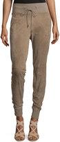 Ralph Lauren Taryn Drawstring-Waist Jogger Pants, Taupe