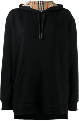 Burberry Oversized Checked Hoodie