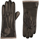 Barneys New York WOMEN'S LEATHER TOUCHSCREEN-COMPATIBLE GLOVES-BLACK SIZE 6.5