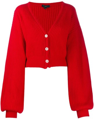 Jejia V-neck chunky knit cardigan