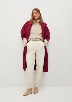 MANGO Textured wrap coat