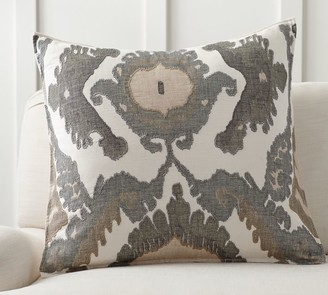 Pottery Barn Hudson Ikat Embroidered Pillow Cover