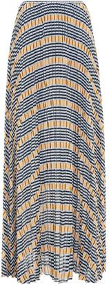 Samsoe & Samsoe Samse Samse Juliette Pleated Printed Crepe De Chine Maxi Skirt